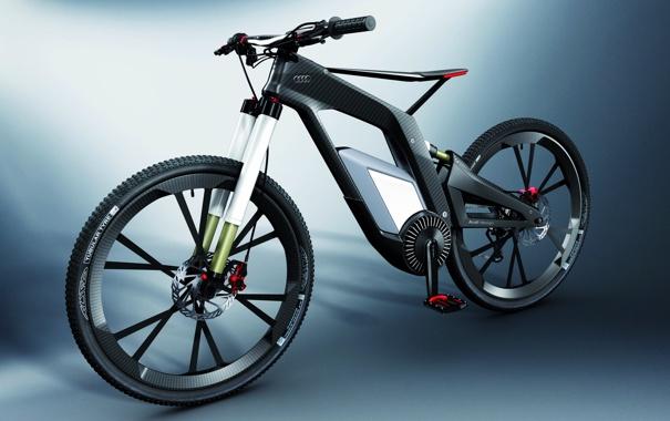 Фото обои велосипед, гибридный, карбоновый, двухколесное транспортное средство, Audi e-Bike