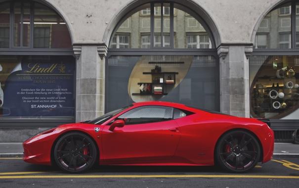 Фото обои Ferrari, red, supercar, italia, Switzerland, Coupe, exotic