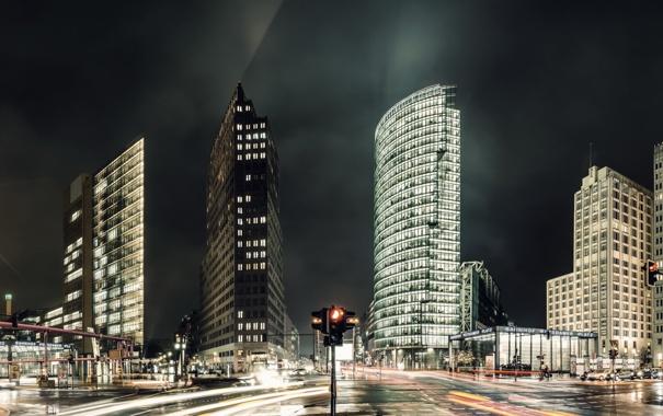 Фото обои Germany, panorama, Berlin, Potsdamer Platz