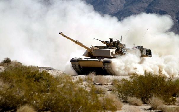 Фото обои поле, оружие, танк