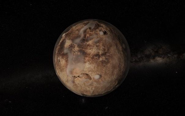 Фото обои космос, звезды, планета
