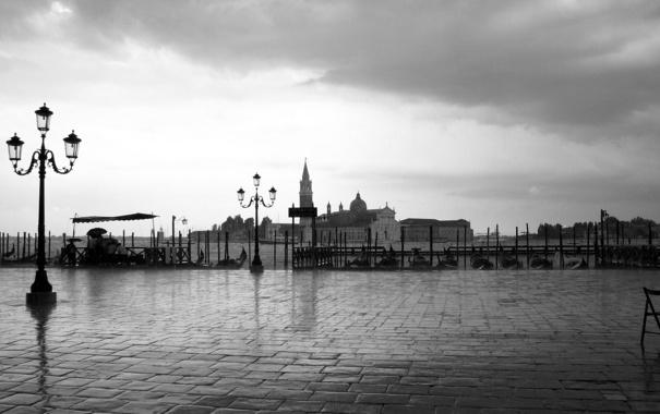 Фото обои Город, площадь, черное