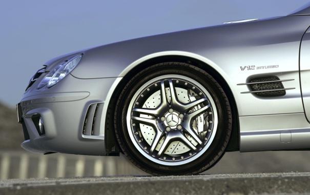 Фото обои макро, машины, колесо, mercedes, benz, колёса, авто обои