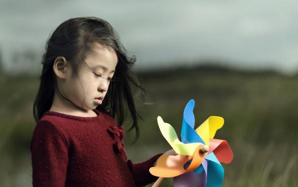 Фото обои настроение, игрушка, девочка
