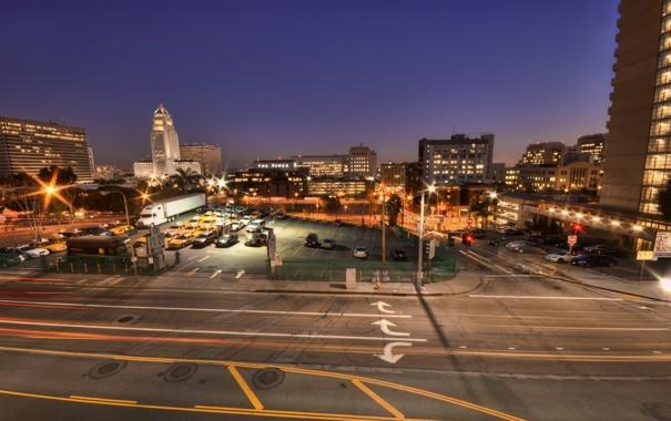 Фото обои ночь, огни, калифорния, night, Los Angeles, California, usa