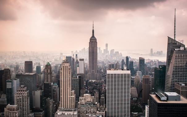Фото обои город, Нью-Йорк, США, Манхэттен, Нью Йорк, New York City, Empire State Building