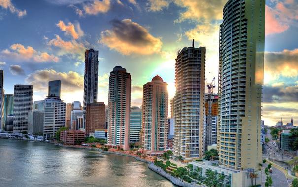 Фото обои город, здания, Обои, картинка