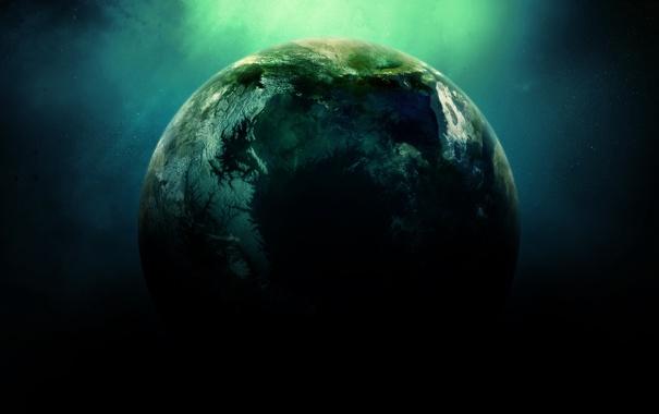 Фото обои свечение, звезды, пространство, экзопланета
