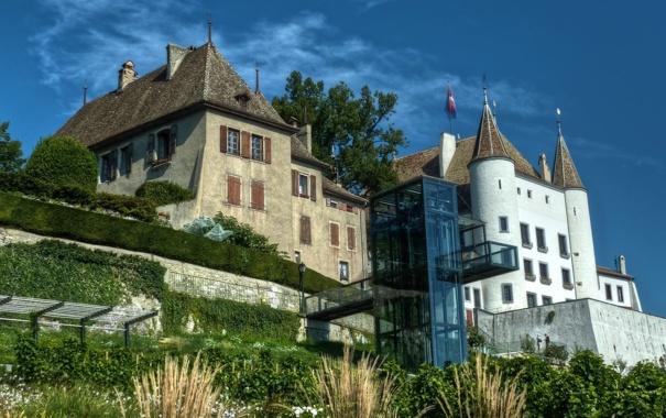 Фото обои замок, Switzerland, Nyon