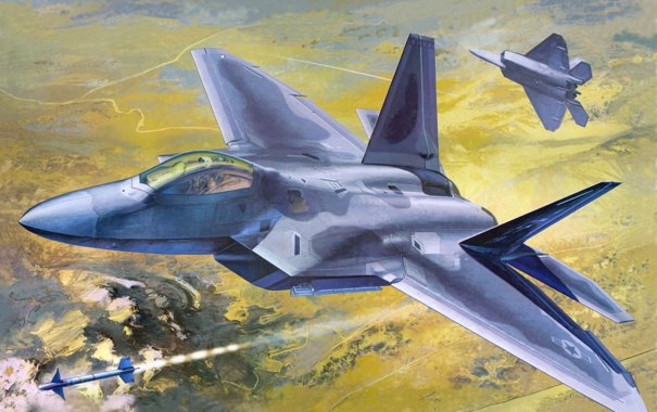 Фото обои авиация, истребитель, самолёт, raptor, F-22A