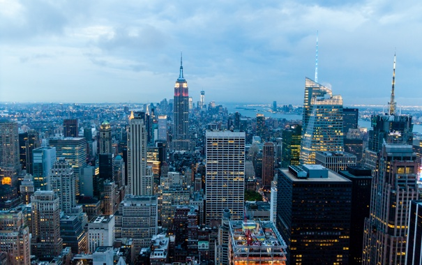 Фото обои США, город, city, Нью-Йорк, New York, USA