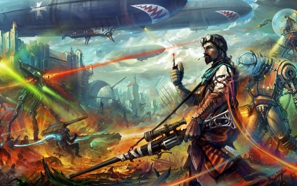 Фото обои арт, Наёмники, Mercenaries