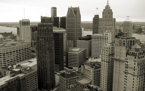 Фото обои высота, небоскребы, Чикаго, USA, Chicago, мегаполис, illinois