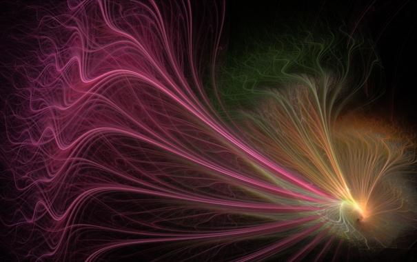 Фото обои линии, абстракция, цвет