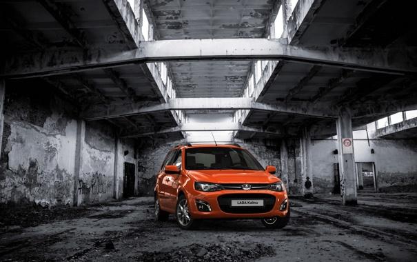 Фото обои фон, настроение, обои, рыжая, автомобиль, Lada, новинка