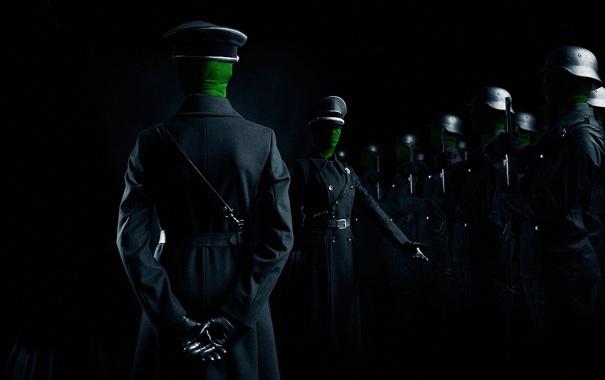 Фото обои оружие, солдаты, шинель, построение, офицеры