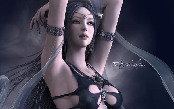 Фото обои грудь, игра, волшебница, shaiya light and darkness