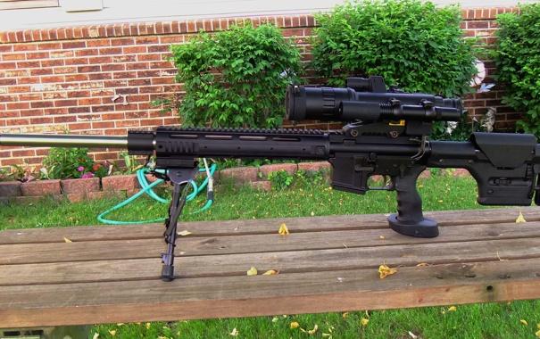 Фото обои оружие, оптика, снайперский вариант, AR-15, Varmint