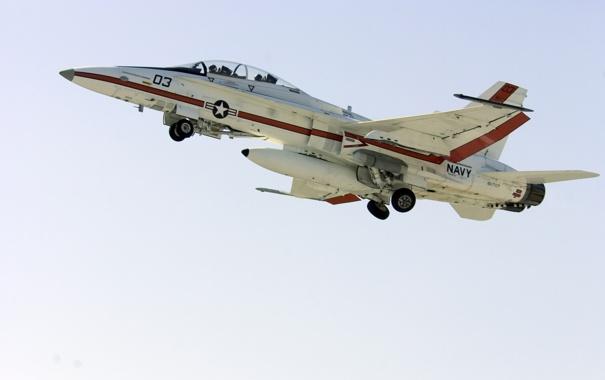Фото обои истребитель, самолёт, F-18