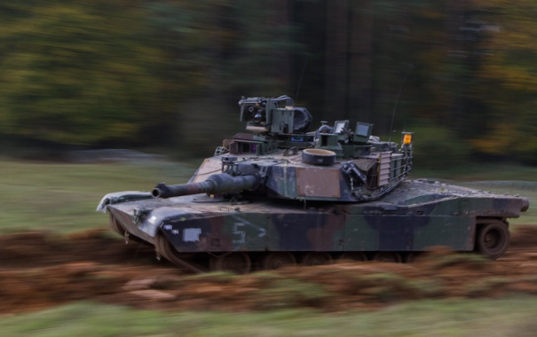 Фото обои скорость, танк, бронетехника, Abrams, Абрамс, M1A2