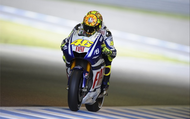 Фото обои Фото, Скорость, Гонка, Мотоцикл, Yamaha, MotoGP, Valentino Rossi