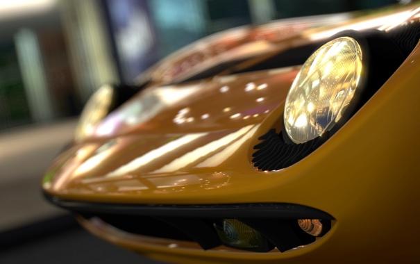 Фото обои фары, Lamborghini, Gran Turismo 5, Miura, GT5, Bertone, P400