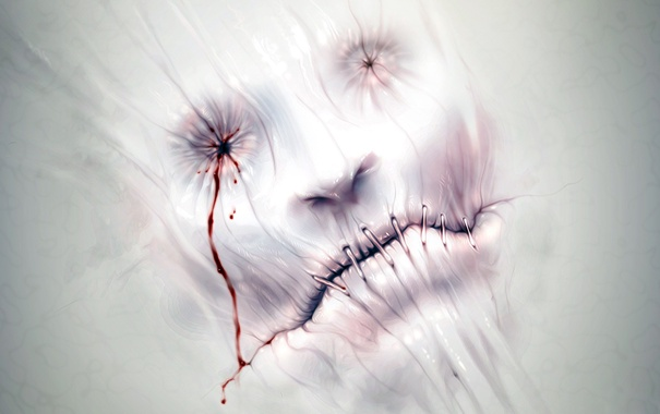 Фото обои фантастика, кровь, арт, ужас, Хоррор, настроени