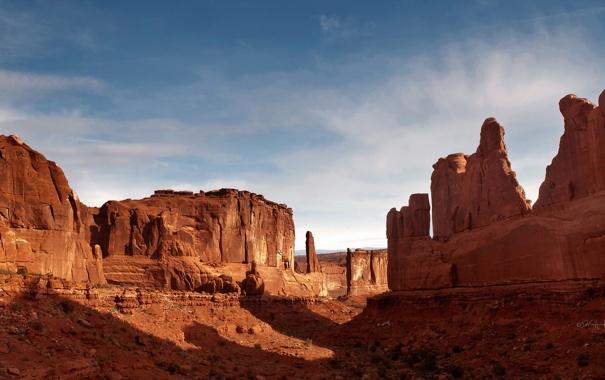 Фото обои пейзаж, Arches National Park, Park Avenue