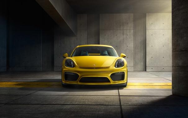Фото обои Porsche, Cayman, порше, GT4, 2015, 981C, кайман