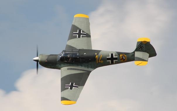 Фото обои Messerschmitt, одномоторный, моноплан, «Тайфун», связной, Bf.108, Taifun