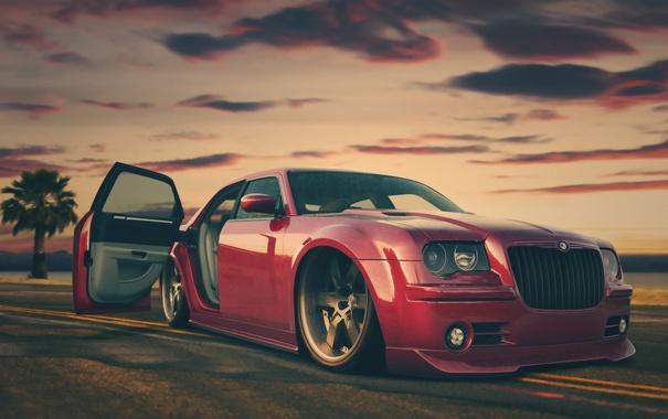 Фото обои красный, muscle, 300c