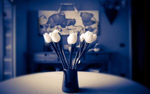 Фото обои цветы, фон, ваза