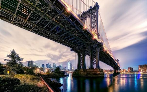 Фото обои Bridge, Brooklyn, Manhattan
