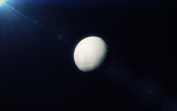 Фото обои Enceladus, космос, Сатурн