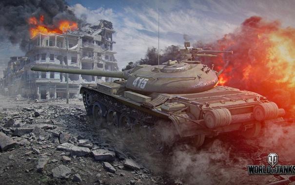 Фото обои огонь, танк, USSR, СССР, танки, WoT, Мир танков