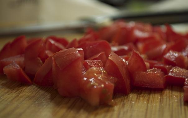 Фото обои еда, помидоры, томаты, ломтики