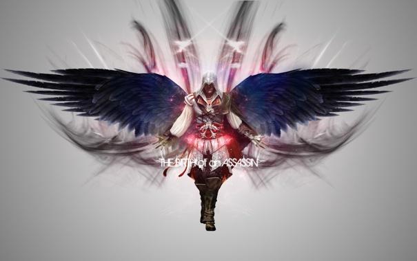 Фото обои Крылья, Убийца, Эцио Аудиторе, Assassins Creed II