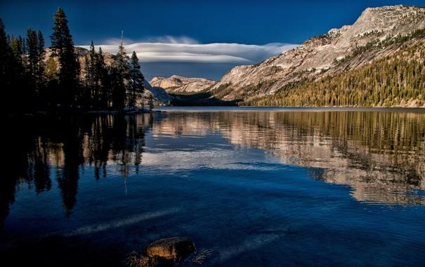 Фото обои Yosemite National Park, Калифорния, Tenaya Lake, California, Йосемити, горы, озеро Теная