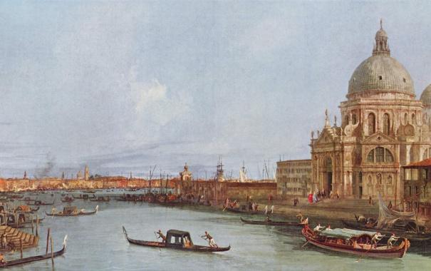 Фото обои картина, венеция, италия, italy, venice, антонио каналетто, 18 век