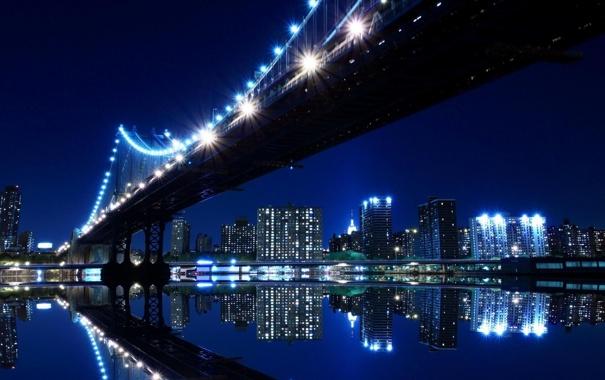 Фото обои lights, City, Night