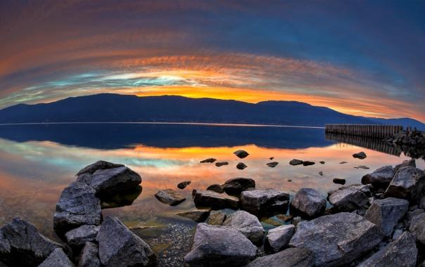 Фото обои вода, солнце, горы, природа, камни, фото, обои