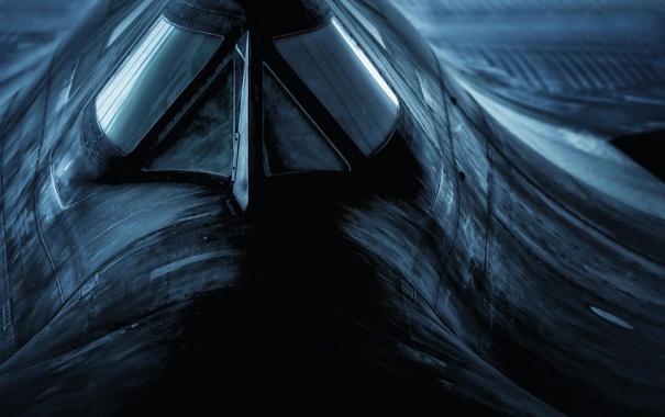 Фото обои Blackbird, Lockheed, SR-71, сверхзвуковой разведчик, Чёрный дрозд