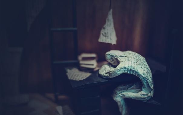 Фото обои ретро, одиночество, стол, экспозиция, газета, СССР, Булгаков