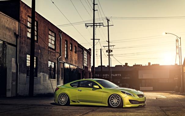 Фото обои зеленый, green, купе, tuning, coupe, hyundai, хёндай