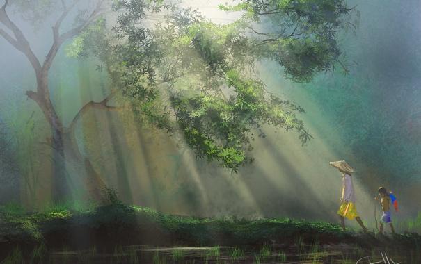 Фото обои лес, арт, Таиланд, Thailand