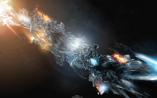 Фото обои холод, огонь, icarus