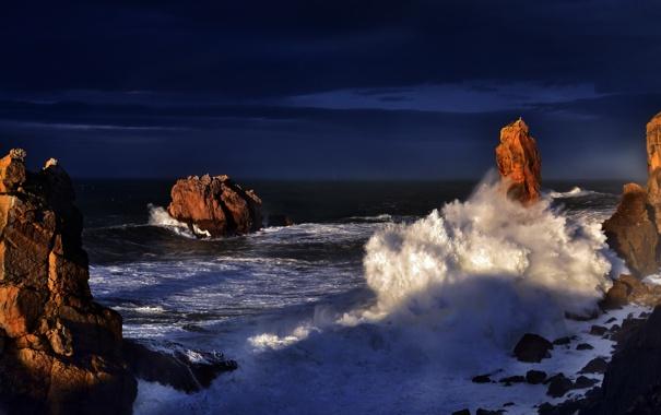 Фото обои Cantabria, Portio, paisajes marinos, paisajes
