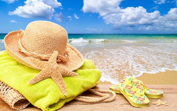 Фото обои море, пляж, лето, солнце, отдых, summer, beach