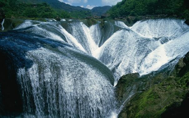 Фото обои джунгли, водопады, горки, изящество, красотище