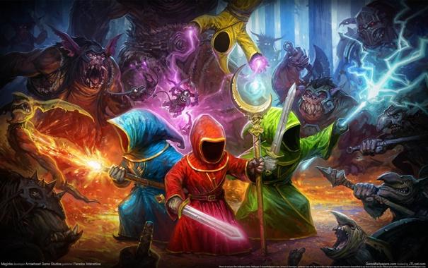 Фото обои Монстры, Волшебники, Маги, Magicka